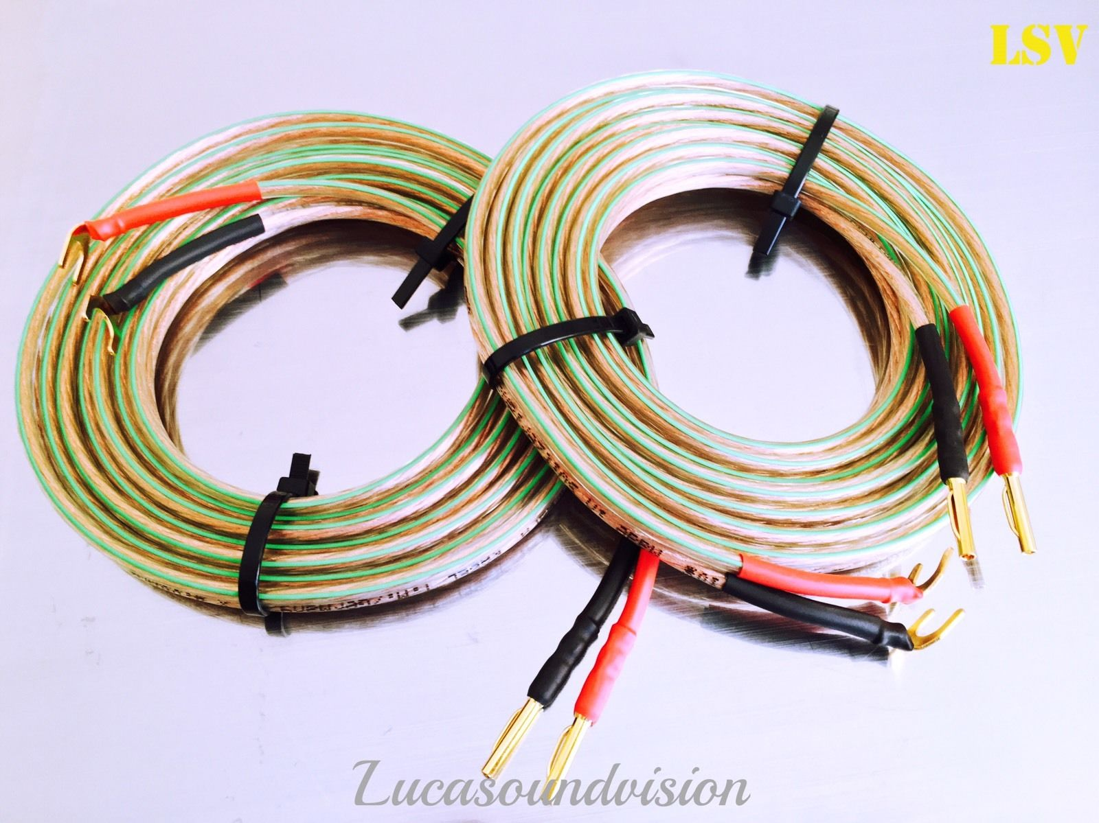 new oehlbach t 1063 2x4mm speaker cables 2x a pair terminated lucasoundvision hi fi. Black Bedroom Furniture Sets. Home Design Ideas